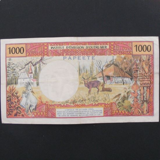 Tahiti, Papeete, 1000 Francs ND 1985, VF/VF+