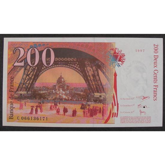 200 Francs Eiffel 1997, C066136171, Neuf papier jauni
