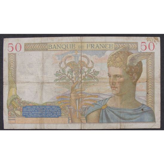 50 Francs Cérès 18.6.1936, C.4591, TB
