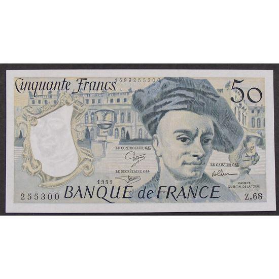 50 Francs Quentin de la Tour 1991, Z.68, SUP+