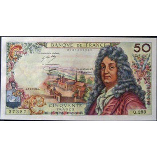 50 Francs Racine 3-6-1976, p.Neuf