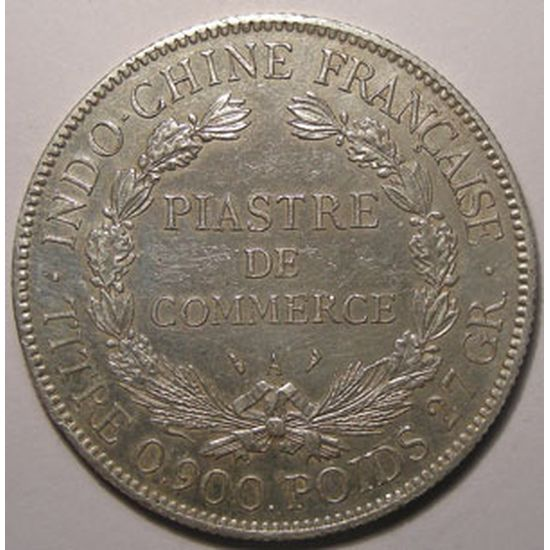 Indochine, Indochina, 1 Piastre 1909, TTB, Lecompte: 292