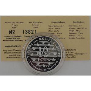 10 Francs 1996 BE, David, KM#1146