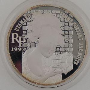 10 Francs 1997 BE, Femme portant une boite, KM#1297