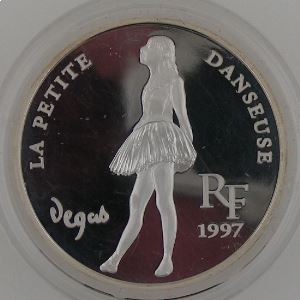 10 Francs 1997 BE, La Petite Danseuse, KM#1292