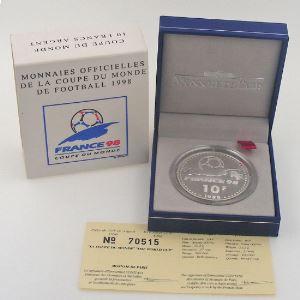 10 Francs 1998 BE, Coupe du Monde, KM#1167