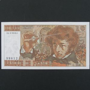 10 Francs Berlioz 2.1.1976 , SUP+