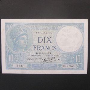 10 Francs Minerve 16-1-1941 , TTB