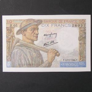 10 Francs Mineur 13-1-1944 , p.Neuf