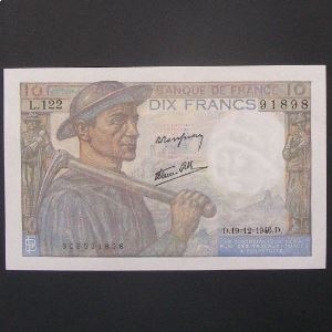 10 Francs Mineur 19-12-1946, SUP/SUP+