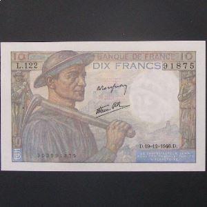 10 Francs Mineur 19-12-1946,SUP/SUP+