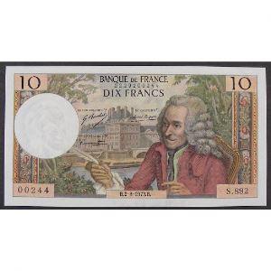 10 Francs Voltaire 2.8.1973 , S.892, SUP+