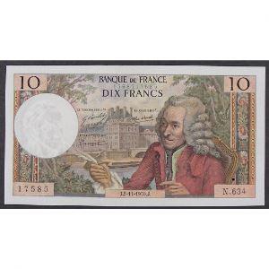 10 Francs Voltaire 5.11.1970 , N.634, SUP