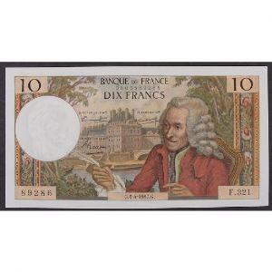 10 Francs Voltaire 6.4.1967, F.321, SUP