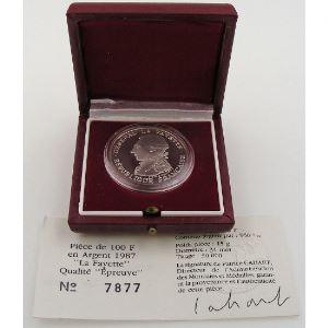 100 Francs 1987 BE , La Fayette, KM#962a