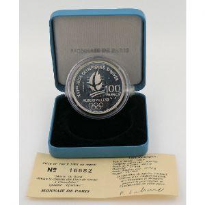 100 Francs 1991 BE, J.O. Ski de fond, KM# 994