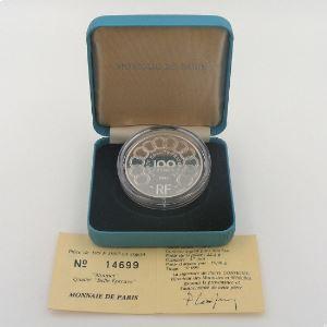 100 Francs 1992 BE, Jean Monnet, KM#1012