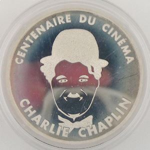 100 Francs 1995 BE, Charlie Chaplin, KM#1076