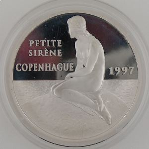 100 Francs 1997 BE, Copenhague Petite Sirène, KM#1178
