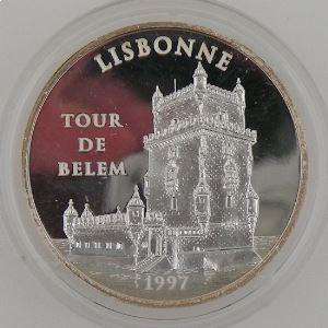 100 Francs 1997 BE, Lisbonne Tour de Belem, KM#1174