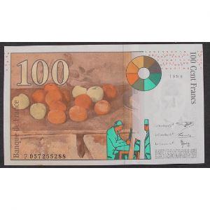100 Francs Cézanne 1998, F057255288, SUP+