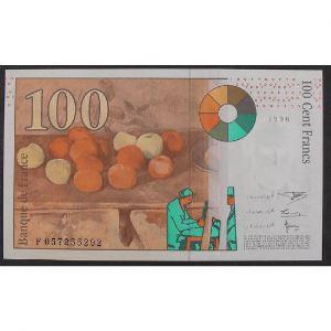 100 Francs Cézanne 1998, F057255292, SUP+
