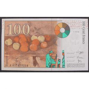 100 Francs Cézanne 1998, F057255294, SUP+