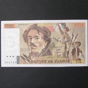 100 Francs Delacroix 1985, SUP