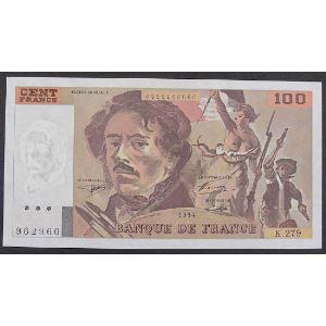 100 Francs Delacroix 1994, K.279, SUP+