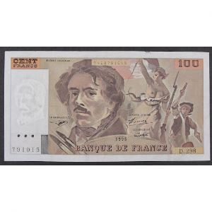 100 Francs Delacroix 1995, D.298, TTB