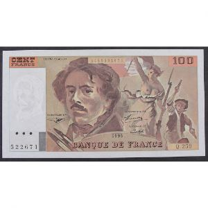 100 Francs Delacroix 1995, Q.259 , SPL