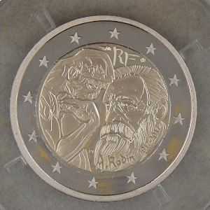 2 Euro 2017 BE , Auguste Rodin