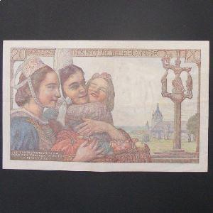20 Francs Pêcheur 10.3.1949, TTB