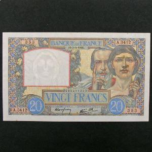20 Francs Science et Travail 3.4.1941, TTB