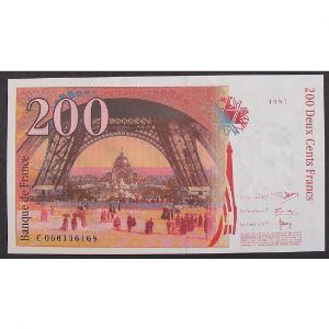 200 Francs Eiffel 1997, C066136168, Neuf papier jauni