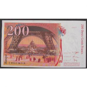 200 Francs Eiffel 1997, C066136169, Neuf papier jauni