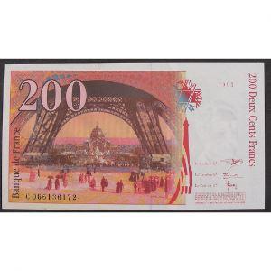 200 Francs Eiffel 1997, C066136172, Neuf papier jauni