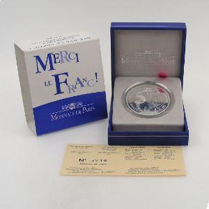 5 Euro 2002 BE Or et Argent, La Semeuse Merci le Franc