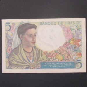 5 Francs Berger 2-6-1943 , TTB/SUP