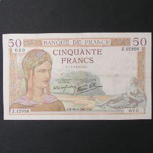 50 Francs Cérès 14-3-1940 , TTB