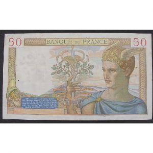 50 Francs Cérès 20.10.1938, F.8768, TTB