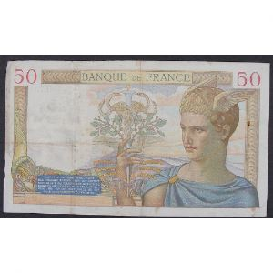 50 Francs Cérès 30.12.1937, H.7319, TB+