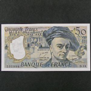 50 Francs Quentin de la Tour 1979, SUP+