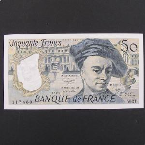 50 Francs Quentin de la Tour 1980, SPL