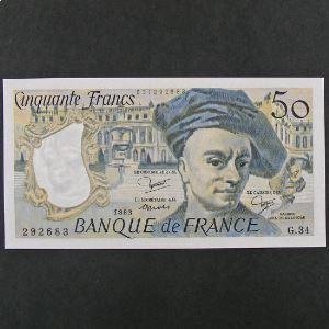 50 Francs Quentin de la Tour 1983, SPL