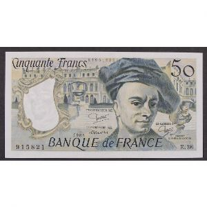 50 Francs Quentin de la Tour 1984, E.36, SUP+