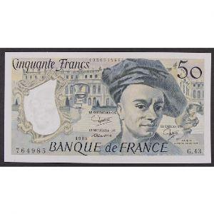 50 Francs Quentin de la Tour 1985, G.43, SUP+