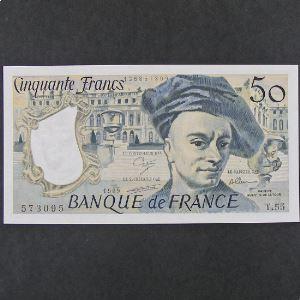 50 Francs Quentin de la Tour 1989, SPL
