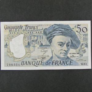 50  Francs Quentin de la Tour 1990, SPL