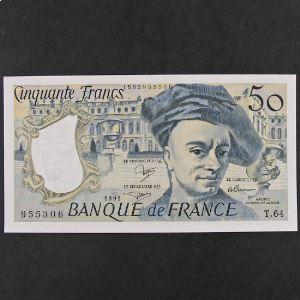 50 Francs Quentin de la Tour 1991, SPL